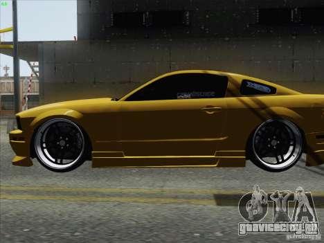 Ford Mustang GT Lowlife для GTA San Andreas вид сзади слева