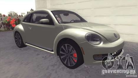 Volkswagen Beetle Turbo 2012 для GTA San Andreas вид слева