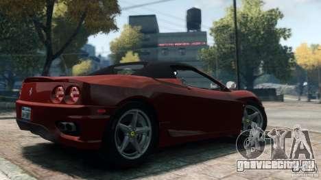 Ferrari 360 Spider 2000 для GTA 4 вид слева