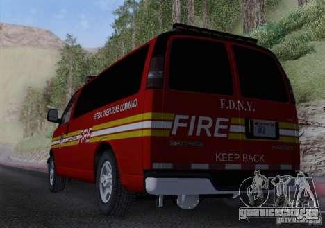 Chevrolet Express Special Operations Command для GTA San Andreas вид изнутри