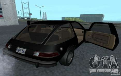 AMC Pacer для GTA San Andreas вид сзади