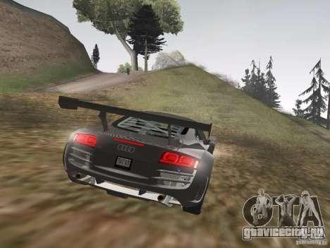 Audi R8 LMS v3.0 для GTA San Andreas вид сзади
