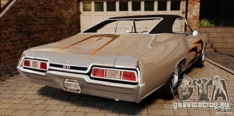 Chevrolet Impala 427 SS 1967 для GTA 4 вид сзади слева