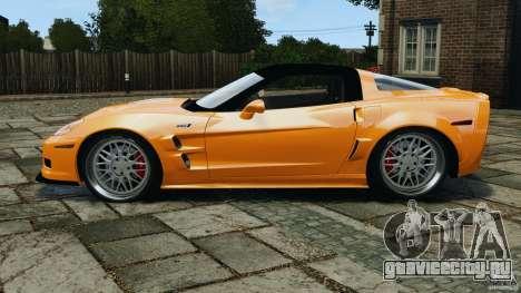 Chevrolet Corvette ZR1 для GTA 4 вид сзади