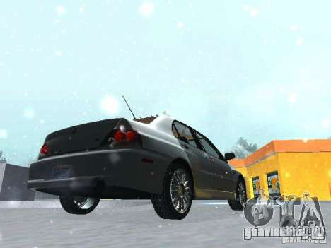 Mitsubishi Lancer Evo IX MR Evolution для GTA San Andreas вид сбоку