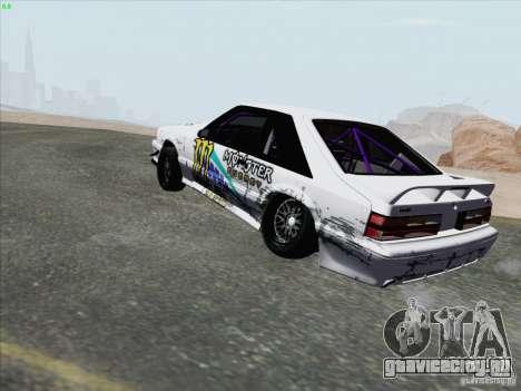 Ford Mustang Drift для GTA San Andreas вид сзади слева