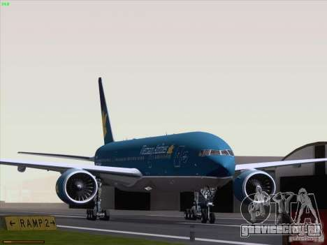Boeing 777-2Q8ER Vietnam Airlines для GTA San Andreas вид слева