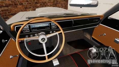 Dodge Coronet 1967 для GTA 4 вид сзади