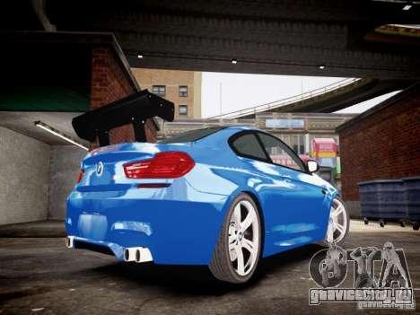 BMW M6 2013 для GTA 4 вид сзади слева