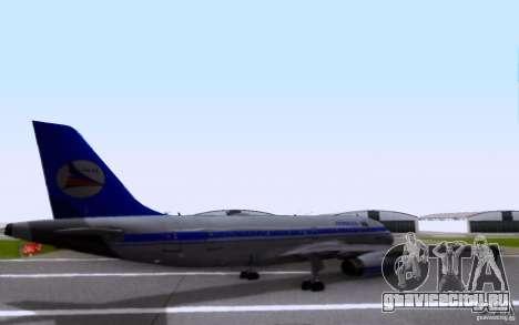 Airbus A-319 Azerbaijan Airlines для GTA San Andreas вид сзади слева