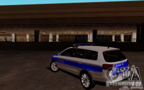 Volkswagen Passat B6 Variant Polizei для GTA San Andreas вид сзади слева