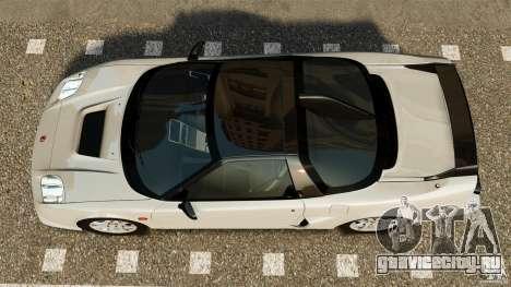 Honda NSX-R GT для GTA 4 вид справа