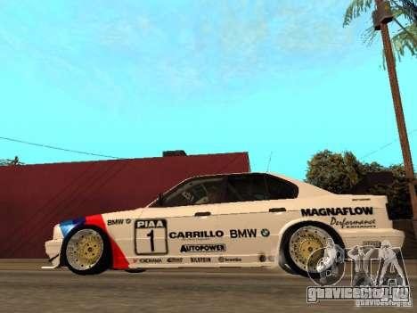 BMW E34 M5 - DTM для GTA San Andreas вид слева