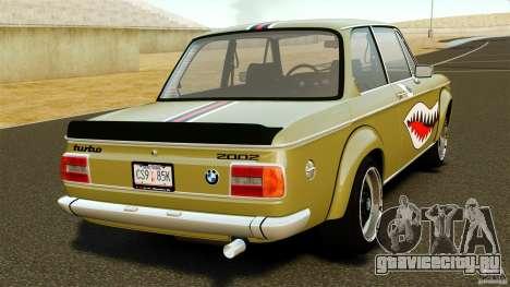 BMW 2002 Turbo 1973 для GTA 4 вид сзади слева