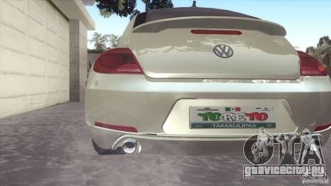Volkswagen Beetle Turbo 2012 для GTA San Andreas вид справа
