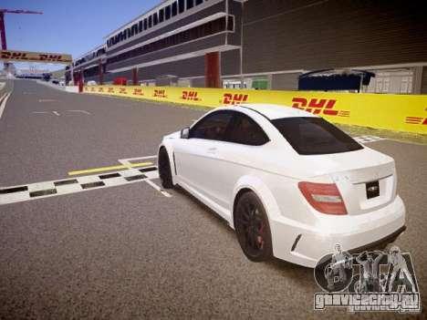 Mercedes-Benz C63 AMG Stock Wheel v1.1 для GTA 4 вид сзади слева