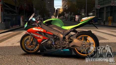Kawasaki Ninja ZX-6R для GTA 4 вид слева
