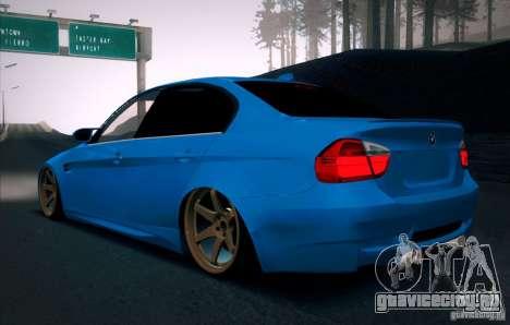 BMW M3 E90 для GTA San Andreas вид сзади слева