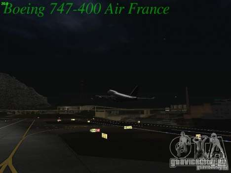 Boeing 747-400 Air France для GTA San Andreas вид сверху