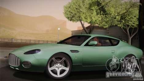 Aston Martin DB7 Zagato 2003 для GTA San Andreas вид снизу