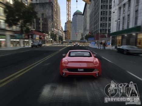 Ferrari California 2009 для GTA 4 вид снизу