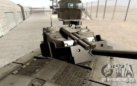 T26 E4 Super Pershing v1.1 для GTA San Andreas вид сзади