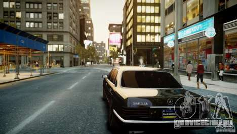 Mercedes-Benz 560 SEL Black Edition для GTA 4 вид сзади