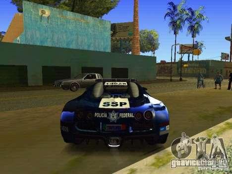 Bugatti Veyron Federal Police для GTA San Andreas вид справа