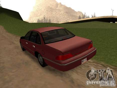 Ford Crown Victoria LX 1994 для GTA San Andreas вид сзади слева