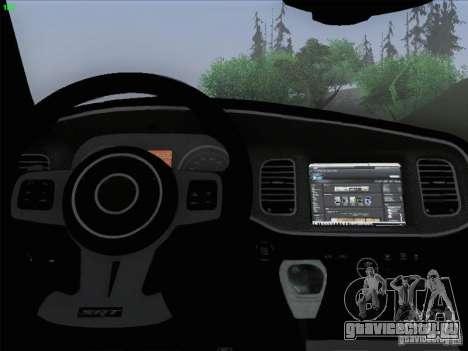 Dodge Charger 2012 Police для GTA San Andreas салон