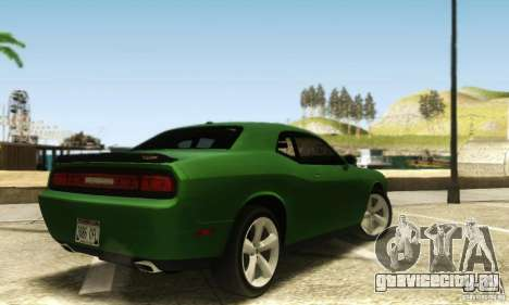 Dodge Challenger SRT-8 для GTA San Andreas вид сзади слева
