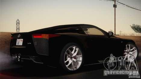 Lexus LFA (US-Spec) 2011 для GTA San Andreas вид слева