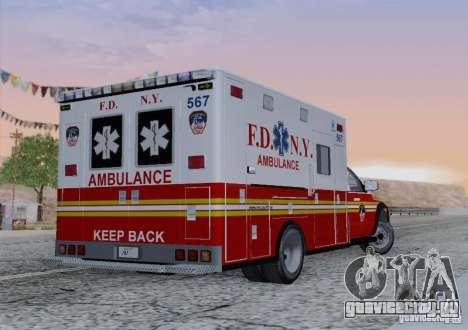 Dodge Ram Ambulance для GTA San Andreas вид сбоку