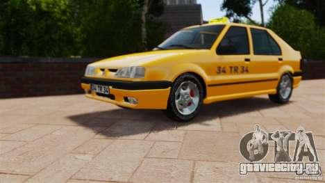 Renault 19 Такси для GTA 4 вид справа