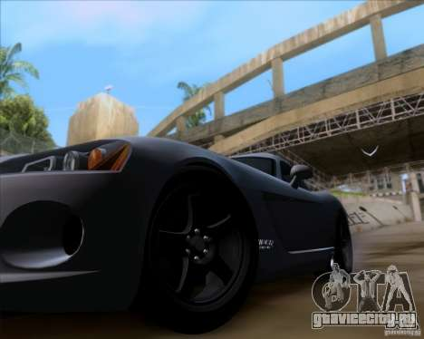 Dodge Viper SRT-10 Coupe для GTA San Andreas вид сзади