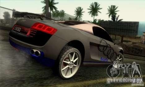 Audi R8 Spyder Tunable для GTA San Andreas вид сбоку