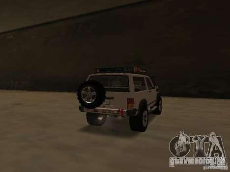 Jeep Cherokee Sport для GTA San Andreas вид сзади слева
