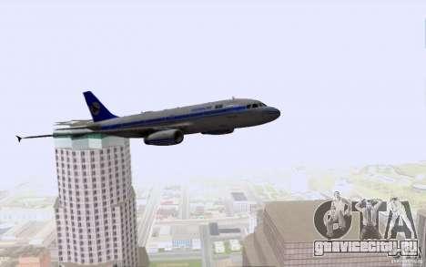 Airbus A-319 Azerbaijan Airlines для GTA San Andreas вид снизу