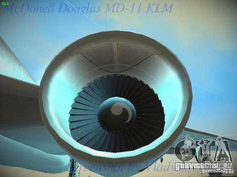 McDonnell Douglas MD-11 KLM Royal Dutch Airlines для GTA San Andreas вид сверху