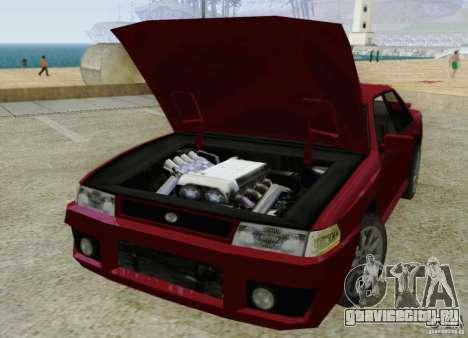Sultan SRX для GTA San Andreas вид изнутри