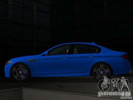 BMW M5 F10 2012 для GTA Vice City вид слева