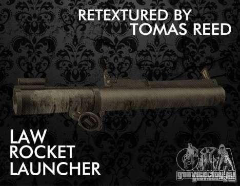LAW Rocket Launcher Retextured для GTA San Andreas