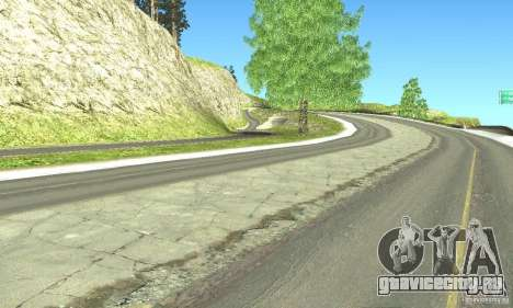 Real HQ Roads для GTA San Andreas шестой скриншот