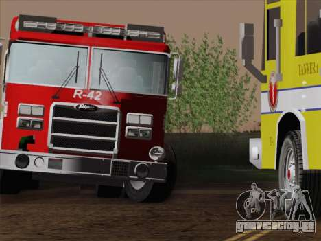 Pierce Contender LAFD Rescue 42 для GTA San Andreas вид снизу
