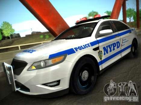 Ford Taurus NYPD 2011 для GTA San Andreas