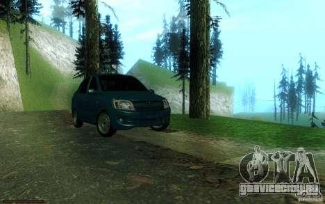 ВАЗ 2190 для GTA San Andreas вид сзади