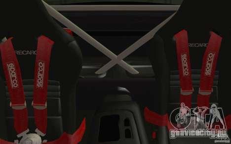 Mazda RX7 Hellalush V.2 для GTA San Andreas вид изнутри