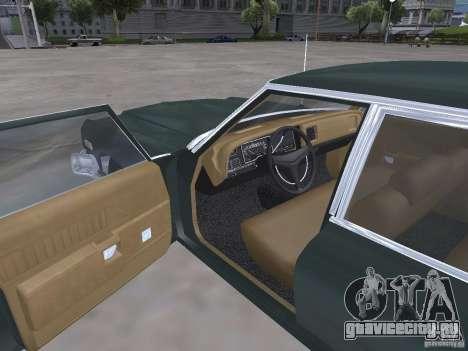 Dodge Monaco 1974 для GTA San Andreas вид изнутри