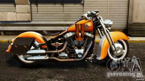 Harley Davidson Fat Boy Lo Vintage для GTA 4 вид слева