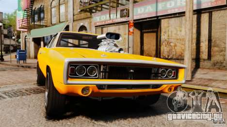 Dodge Charger RT 1970 для GTA 4 вид изнутри
